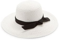 Ribbon-Trim Straw Hat