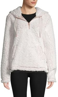 Faux Shearling Hooded Top