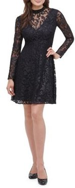 Burnout Embroidered Lace Dress