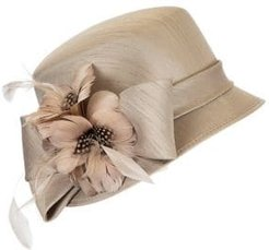 Shantung Embellished Cloche Hat