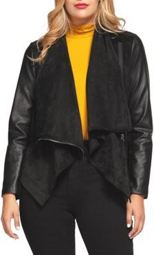 Faux-Leather Fly Away Jacket