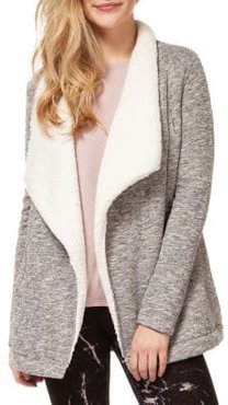 Fuzzy Open-Collared Jacket