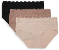 3-Pack B.Bare Lace-Trimmed Hipster
