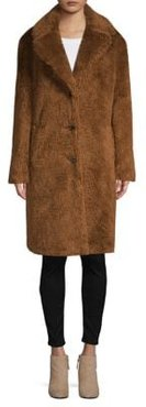 Long Faux-Fur Teddy Coat