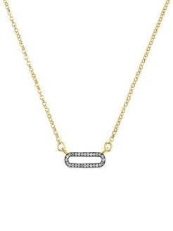 18K Goldplated Sterling Silver & 0.257 TCW Diamond Pendant Necklace
