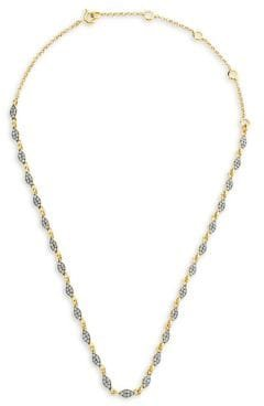 18K Goldplated Sterling Silver & 1.9082 TCW Diamond Collar Necklace