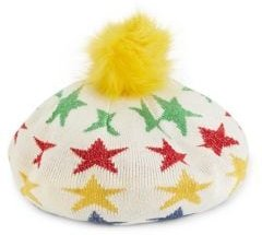 HBC x Color Me Courtney Lurex Star Printed Beret