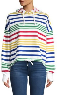 HBC x Color Me Courtney Striped Cotton Hoodie