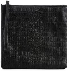 Small Textured Leather Clutch