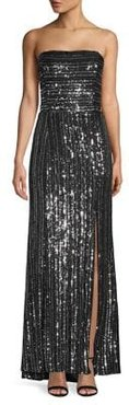Embellished High-Low Column Gown