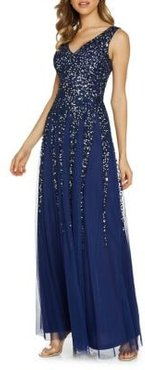Sequined Embroidered Maxi Dress