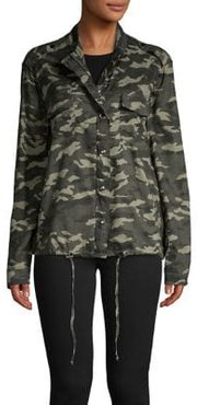 Camouflage-Print Snap-Front Jacket