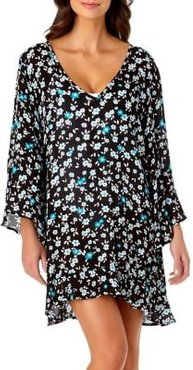 Beautiful Bunches Floral-Print Coverup Tunic