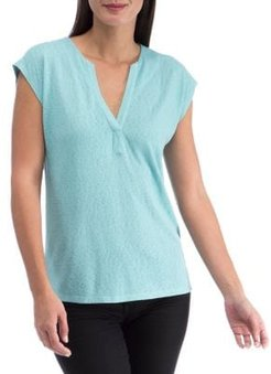 Relaxed-Fit Cap-Sleeve Top