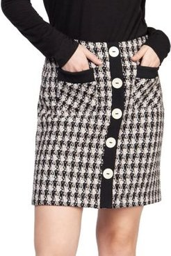 Printed High-Waist Skirt