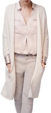 Open-Front Cotton Cardigan
