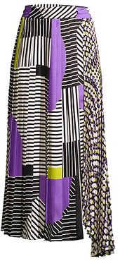 Printed Pleated Skirt - Lilac - Size 40 (2)