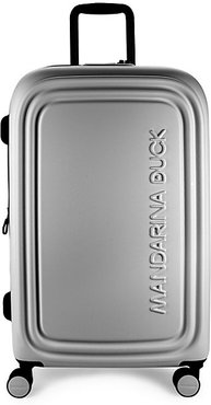 Logoduck Medium Expandable Hardshell Trolley - Silver
