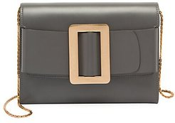 Buckle Leather Wallet-On-Chain - Iron