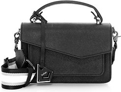 Cobbie Hill Leather & Canvas Crossbody Bag - Black