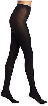 Silky Stretch Silk Tights - Noir - Size Small