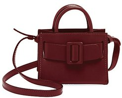 Bobby Charm Leather Crossbody Tote - Oxblood