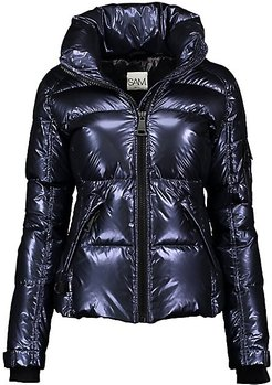 Freestyle Metallic Down Nylon Puffer Jacket - Moonlight - Size XS