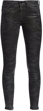 Charlie High-Rise Ankle Skinny Coated Camouflage Jeans - Coated Laser - Size 26 (2-4)