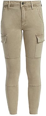 Charlie High-Rise Cargo Ankle Skinny Jeans - Walnut - Size 28 (6)