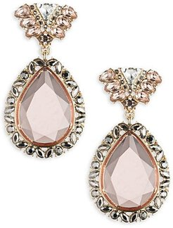 Stone-Accented Drop Earrings