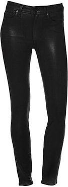 Hoxton High-Rise Coated Ankle Skinny Jeans - Black Fog Luxe Coating - Size 27 (4)