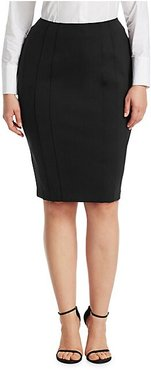 Ocraceo Pencil Skirt - Black - Size 12W