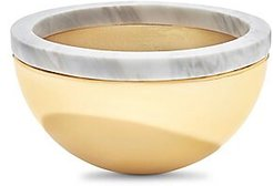 Dual Carrara Bowl - Gold