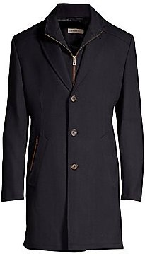 Flexcity Buttoned Coat - Navy - Size 38 R