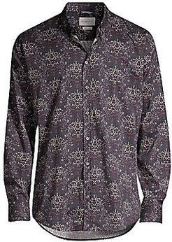 Graphic Floral Sport Shirt - Yellow - Size XL