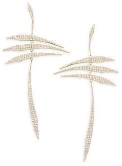 Eclectic Pavé 18K Yellow Gold-Plated Sterling Silver Mobile Earrings - Gold/Plated