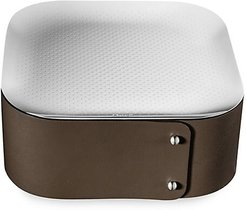 Collection Club Leather & Stainless Steel Trinket Box - Bronze