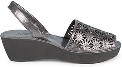 Shine Far Metallic Wedge Sandals