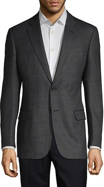 Textured Wool Blend Sportcoat