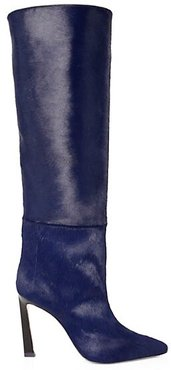 Aces Knee-High Calf Hair & Leather Boots