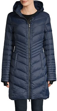 Maya Ashdale Quilted Down Coat