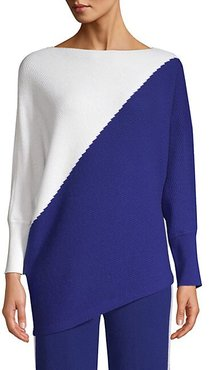 Ribbed Cashmere Colorblocked Sweater