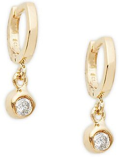 14K Yellow Gold & Diamond Drop Earrings