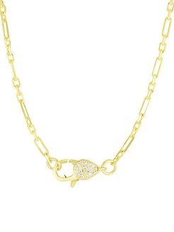 Crystal Clasp Chain Necklace