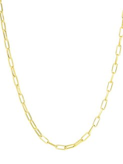 14K Goldplated Sterling Silver Paperclip Chain Necklace