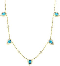 14K Goldplated Sterling Silver & Crystal Necklace