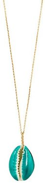 Lacquered Shell Pendant Necklace