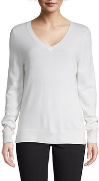 Long-Sleeve Cashmere Top
