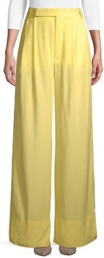 Soft Diagonal Wide-Leg Pants