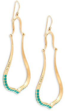 Apache Turquoise Goldplated Chandelier Earrings